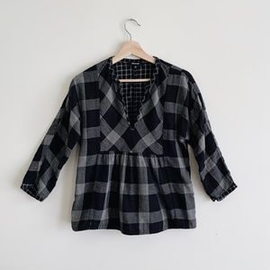 Madewell plaid blouse